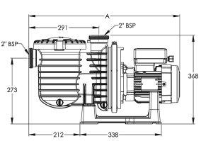 Sta-Rite (SW)5P6R swimming pool pump dimensions
